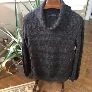 Sweaters - Grey turtleneck cable knit sweater size XL